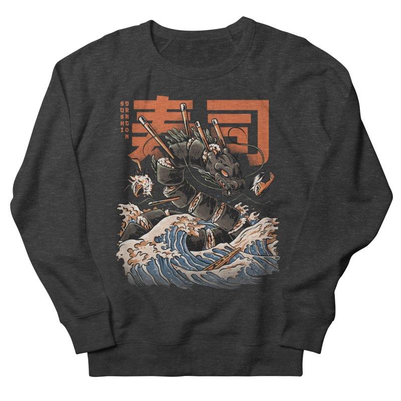 The Black Sushi Dragon Women's French Terry Sweatshirt by ilustrata
