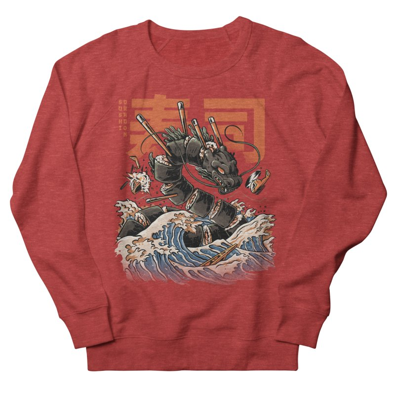The Black Sushi Dragon Men's Sweatshirt by ilustrata