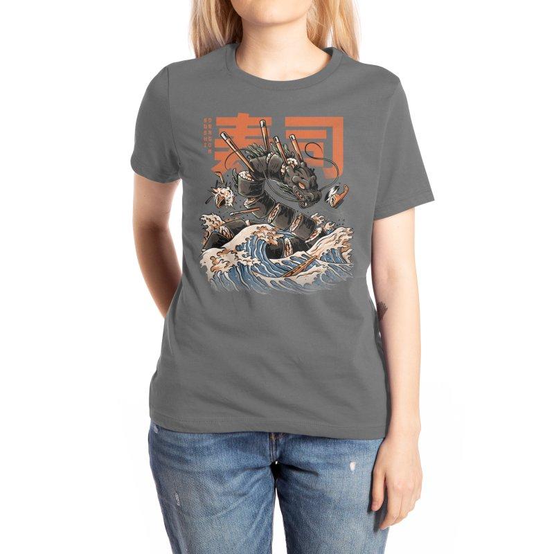 The Black Sushi Dragon Women's T-Shirt by ilustrata