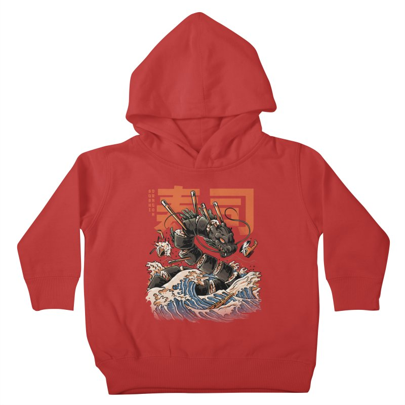 The Black Sushi Dragon Kids Toddler Pullover Hoody by ilustrata