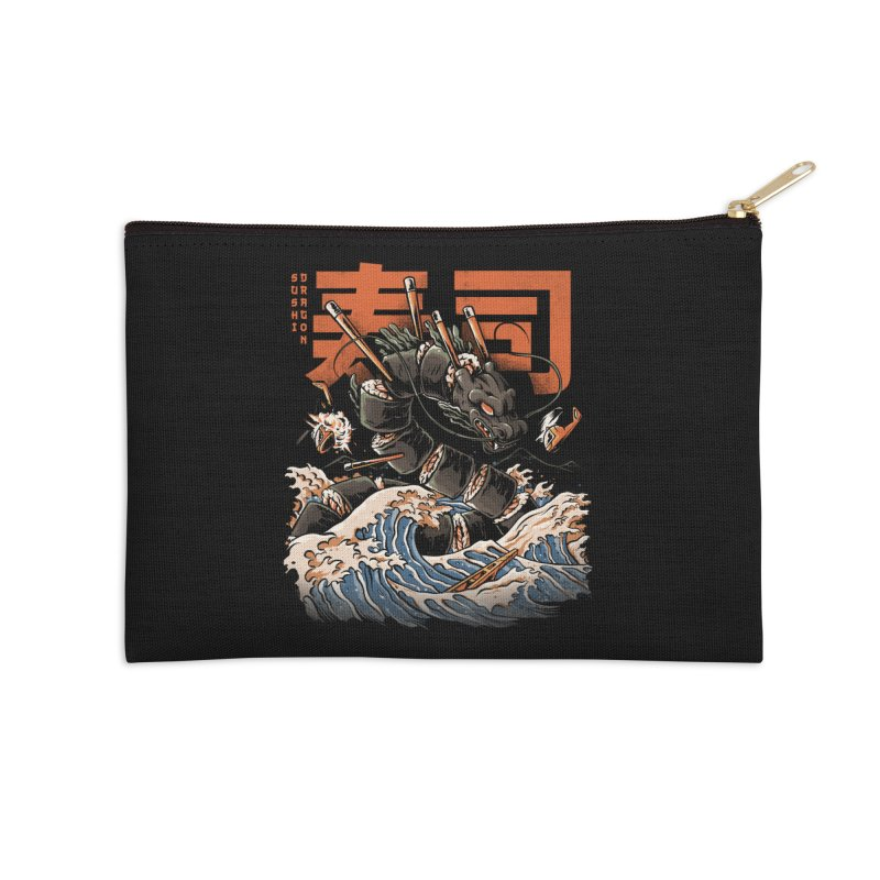 The Black Sushi Dragon Accessories Zip Pouch by ilustrata