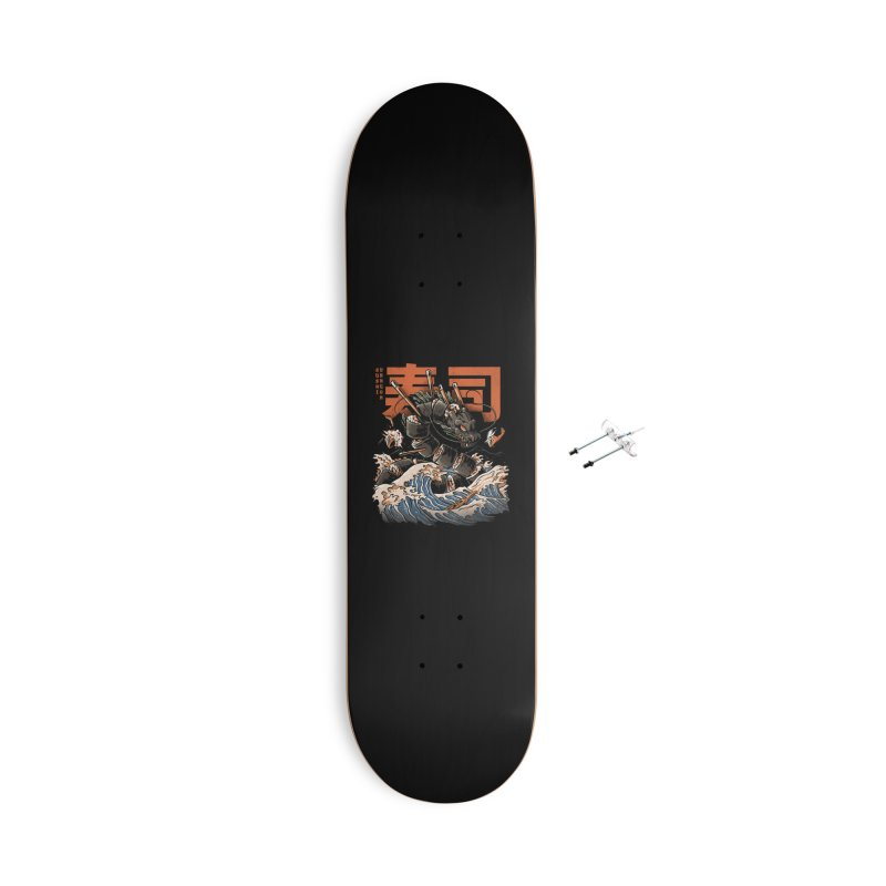 The Black Sushi Dragon Accessories With Hanging Hardware Skateboard by ilustrata