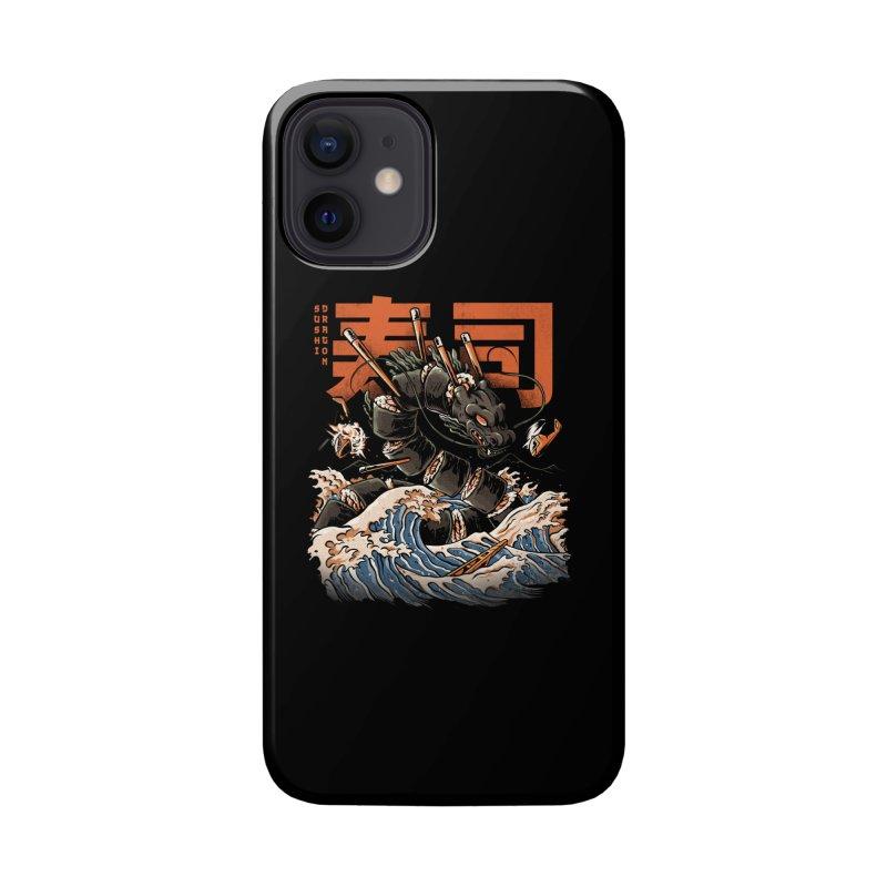 The Black Sushi Dragon Accessories Phone Case by ilustrata