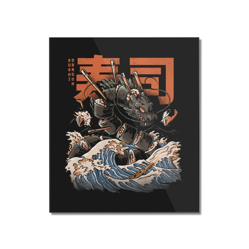 The Black Sushi Dragon Home Mounted Acrylic Print by ilustrata