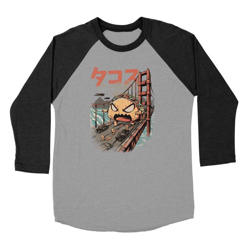 The Black Takaiju Women's Baseball Triblend Longsleeve T-Shirt by ilustrata