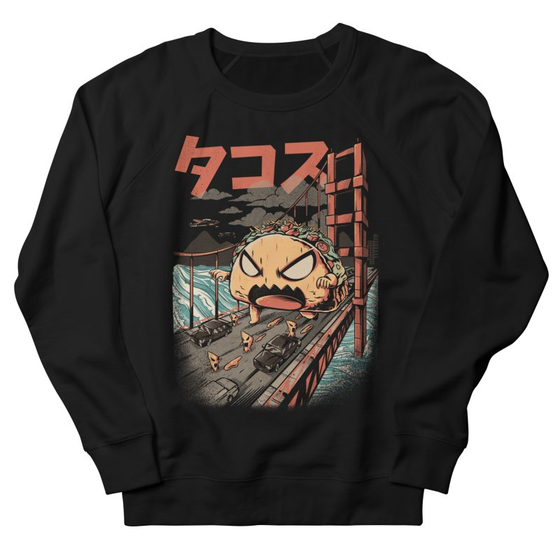 The Black Takaiju Women's French Terry Sweatshirt by ilustrata
