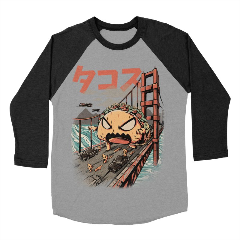 The Black Takaiju Men's Baseball Triblend Longsleeve T-Shirt by ilustrata