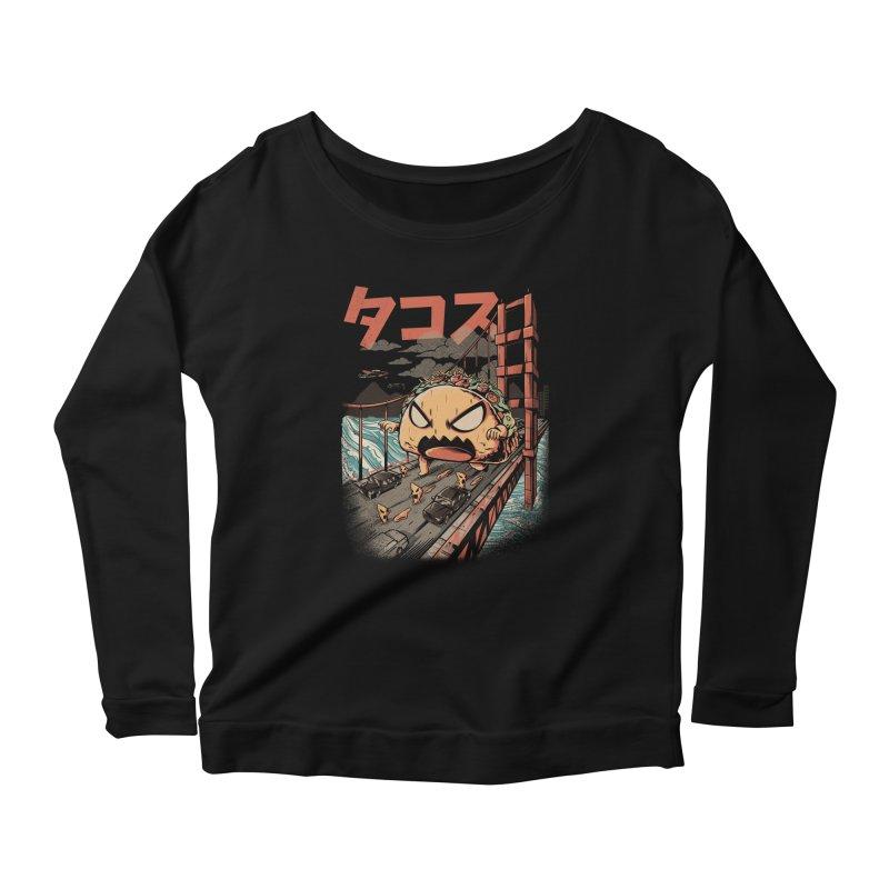 The Black Takaiju Women's Scoop Neck Longsleeve T-Shirt by ilustrata