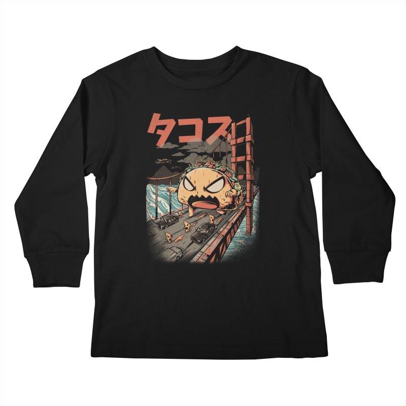 The Black Takaiju Kids Longsleeve T-Shirt by ilustrata
