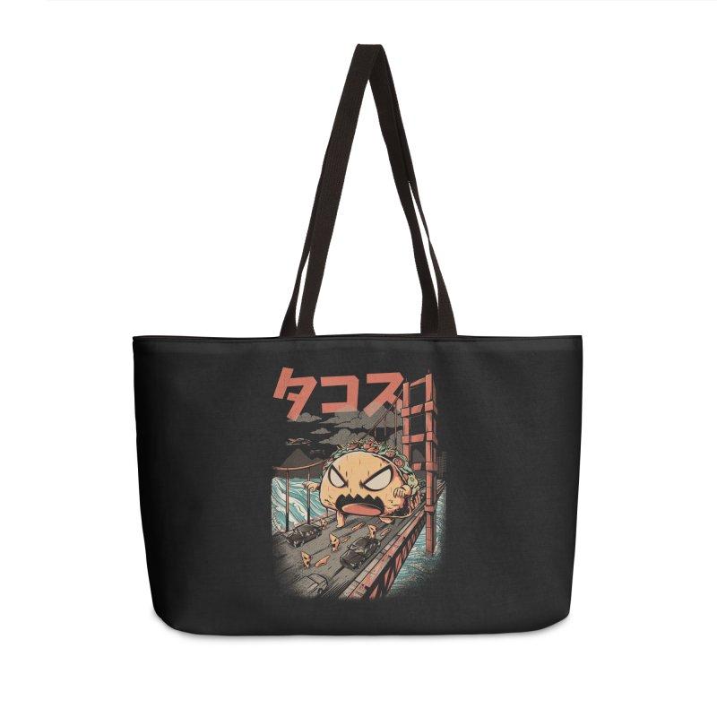 The Black Takaiju Accessories Weekender Bag Bag by ilustrata