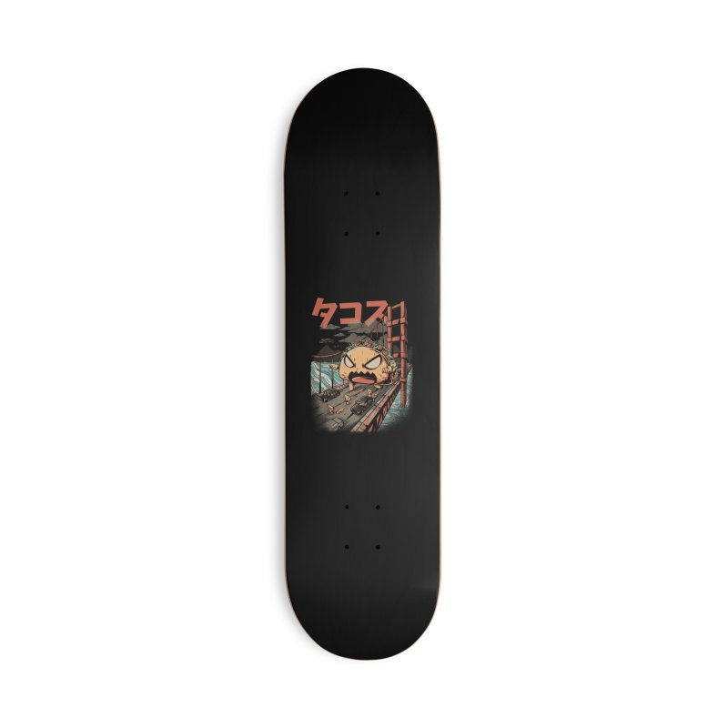 The Black Takaiju Accessories Deck Only Skateboard by ilustrata