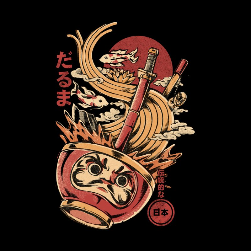 Daruma's Ramen Men's T-Shirt by ilustrata