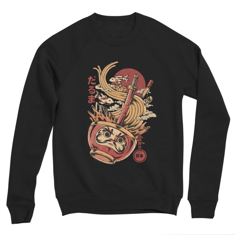 Daruma's Ramen Men's Sponge Fleece Sweatshirt by ilustrata
