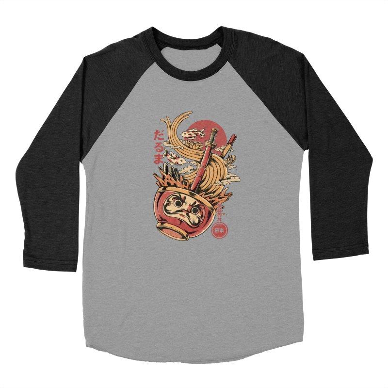 Daruma's Ramen Women's Baseball Triblend Longsleeve T-Shirt by ilustrata