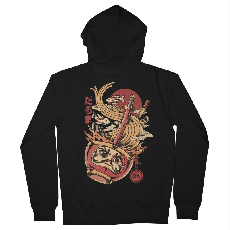 Daruma's Ramen Men's French Terry Zip-Up Hoody by ilustrata
