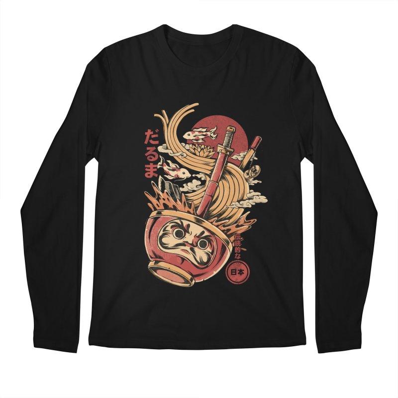 Daruma's Ramen Men's Regular Longsleeve T-Shirt by ilustrata