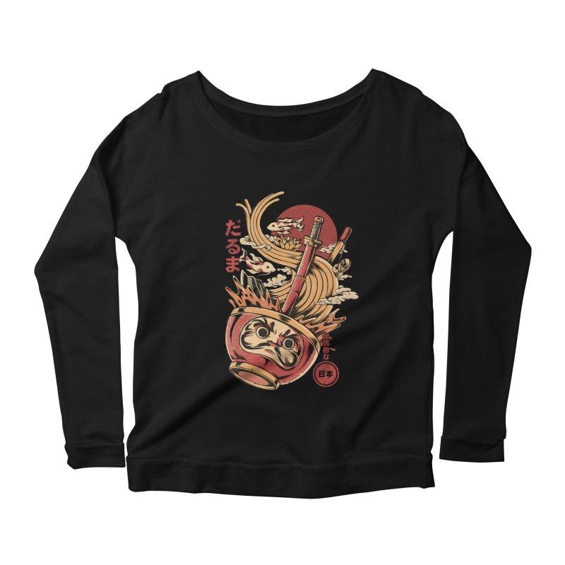 Daruma's Ramen Women's Scoop Neck Longsleeve T-Shirt by ilustrata
