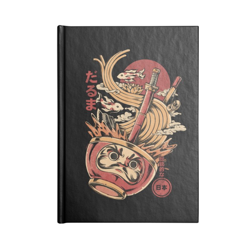 Daruma's Ramen Accessories Blank Journal Notebook by ilustrata