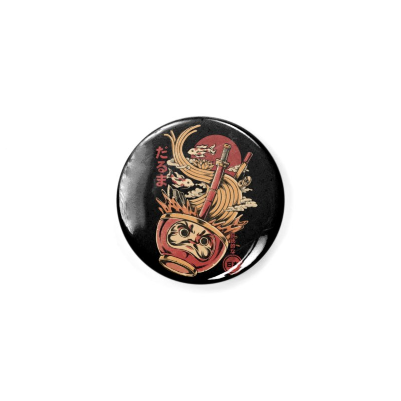 Daruma's Ramen Accessories Button by ilustrata