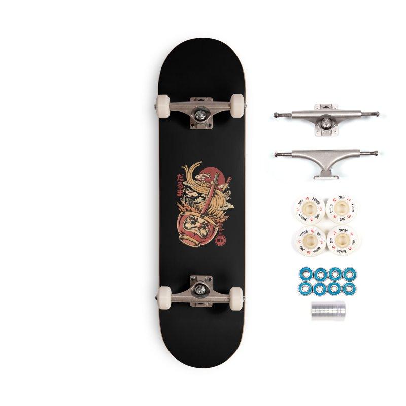 Daruma's Ramen Accessories Complete - Premium Skateboard by ilustrata