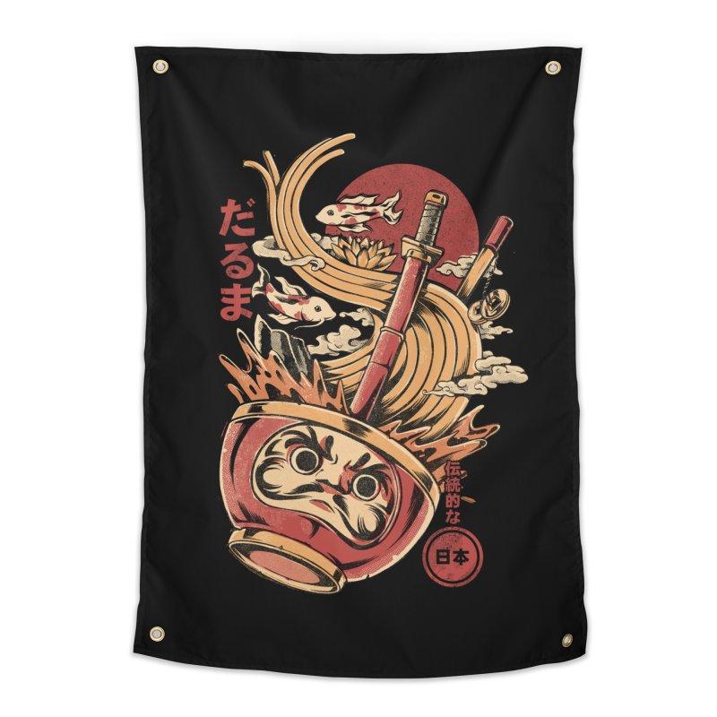 Daruma's Ramen Home Tapestry by ilustrata
