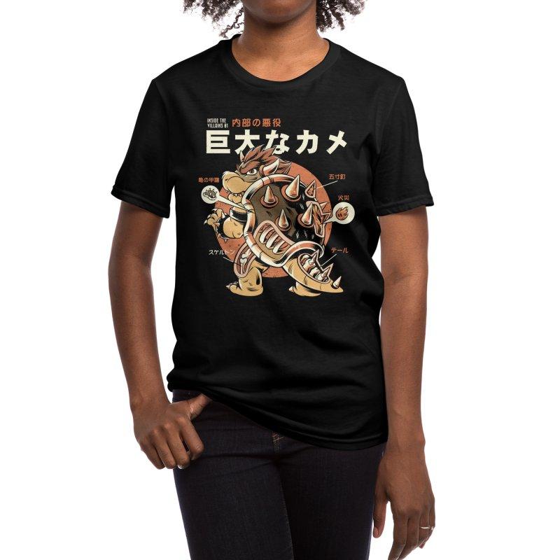 Black Bowserzilla Women's T-Shirt by ilustrata