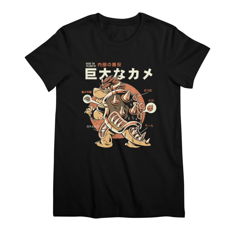Black Bowserzilla Women's Premium T-Shirt by ilustrata