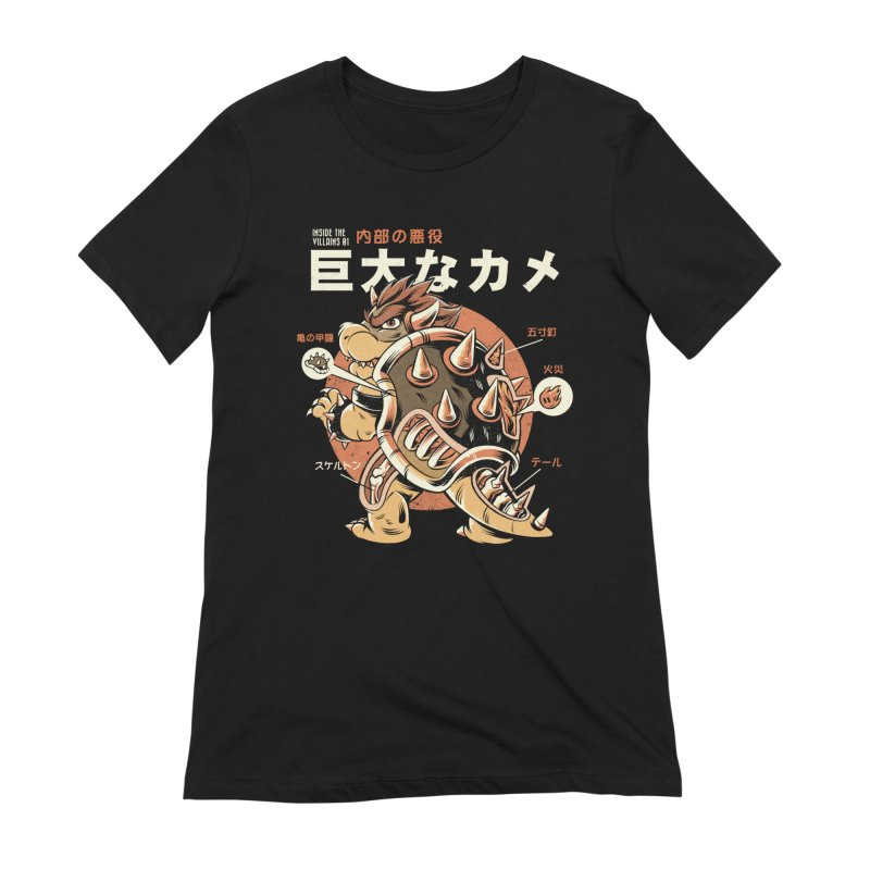 Black Bowserzilla Women's Extra Soft T-Shirt by ilustrata