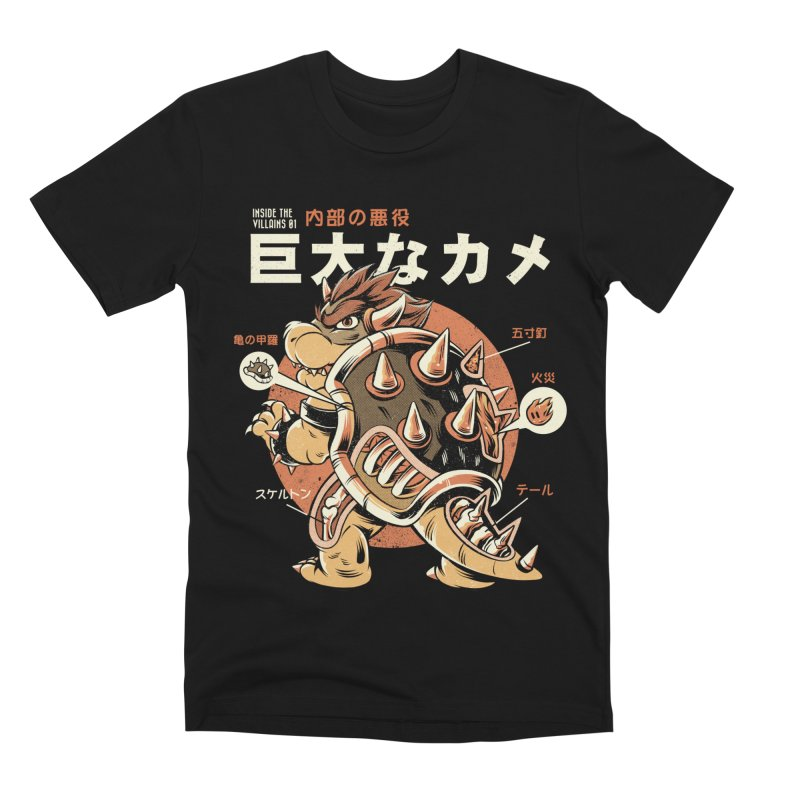 Black Bowserzilla Men's Premium T-Shirt by ilustrata
