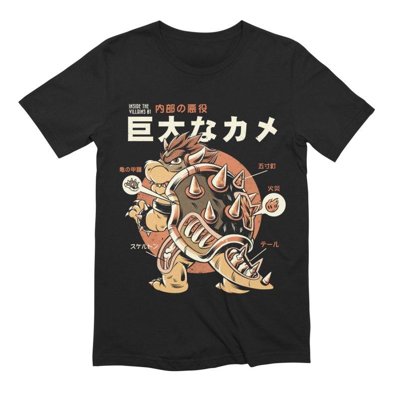 Black Bowserzilla Men's Extra Soft T-Shirt by ilustrata