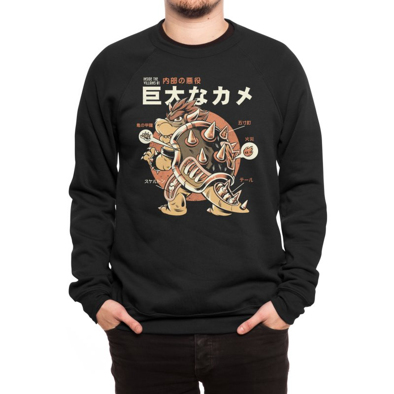 Black Bowserzilla Men's Sweatshirt by ilustrata