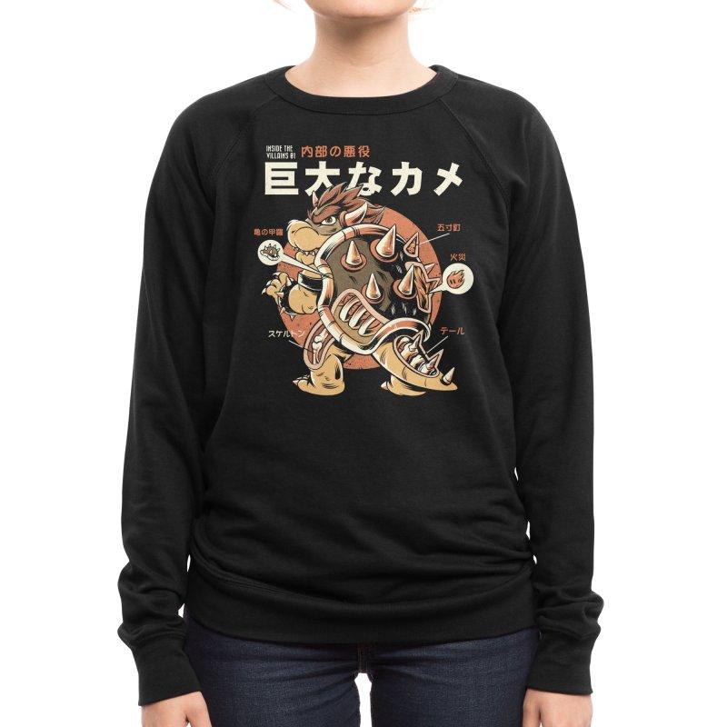 Black Bowserzilla Women's Sweatshirt by ilustrata