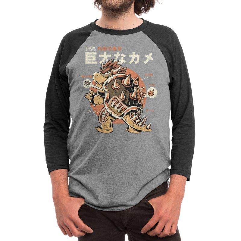 Black Bowserzilla Men's Longsleeve T-Shirt by ilustrata