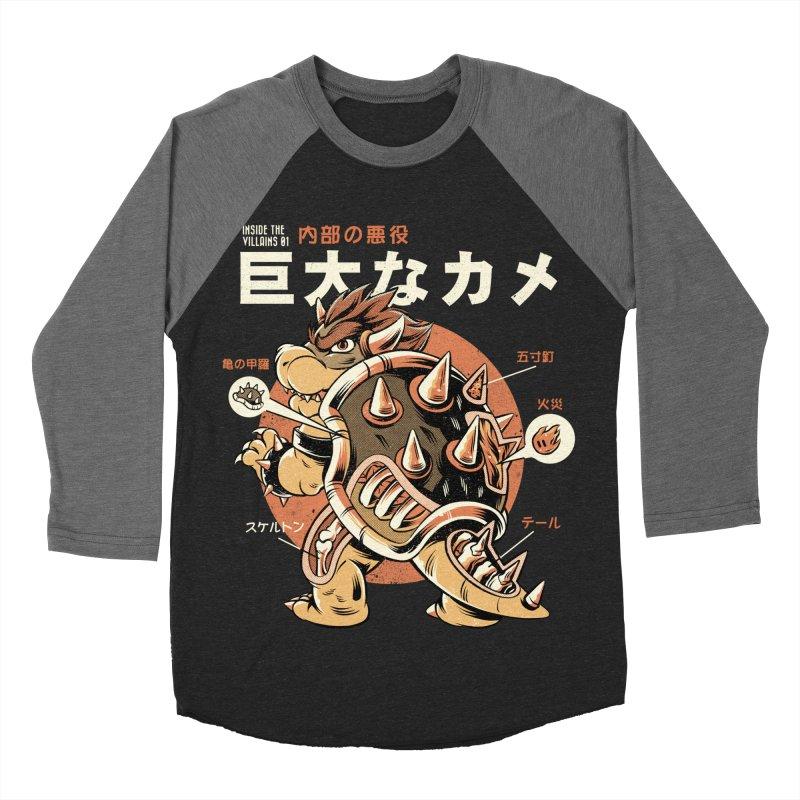 Black Bowserzilla Men's Baseball Triblend Longsleeve T-Shirt by ilustrata