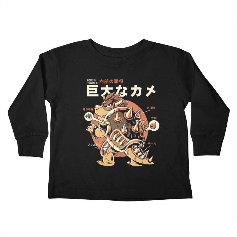 Black Bowserzilla Kids Toddler Longsleeve T-Shirt by ilustrata