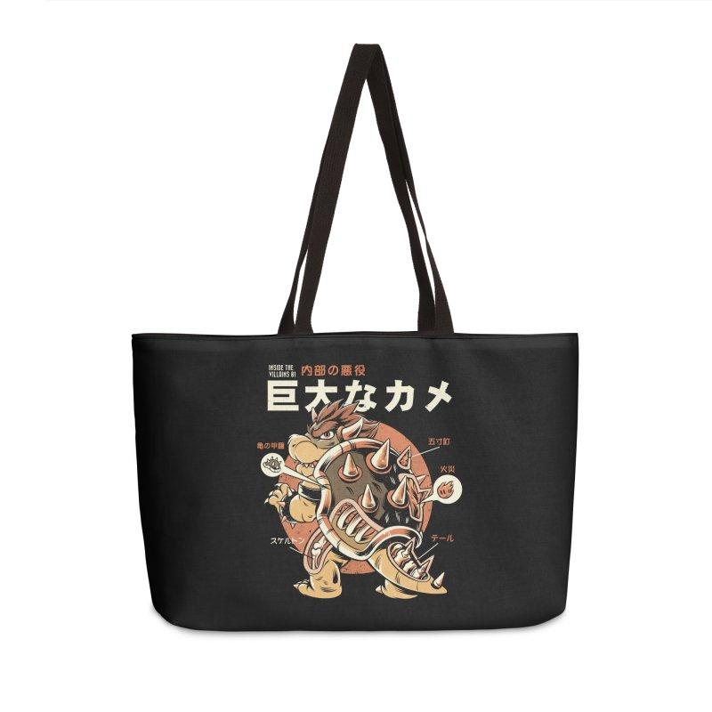 Black Bowserzilla Accessories Weekender Bag Bag by ilustrata