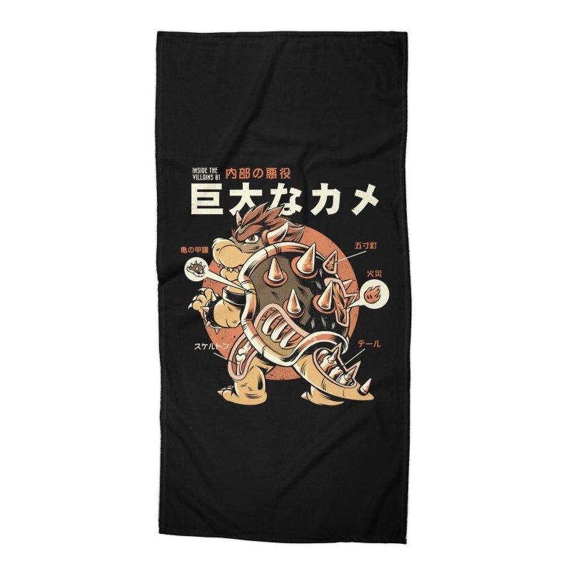 Black Bowserzilla Accessories Beach Towel by ilustrata