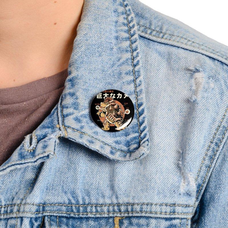 Black Bowserzilla Accessories Button by ilustrata
