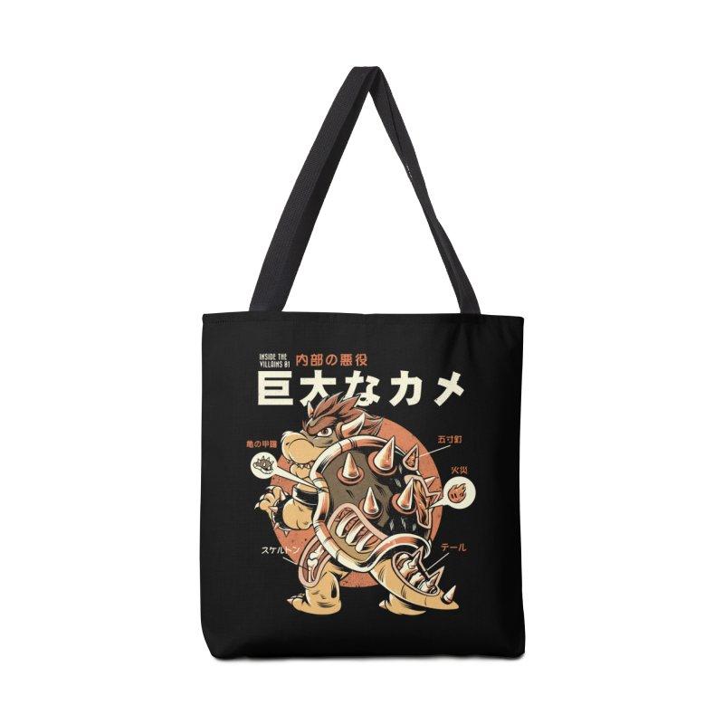 Black Bowserzilla Accessories Tote Bag Bag by ilustrata