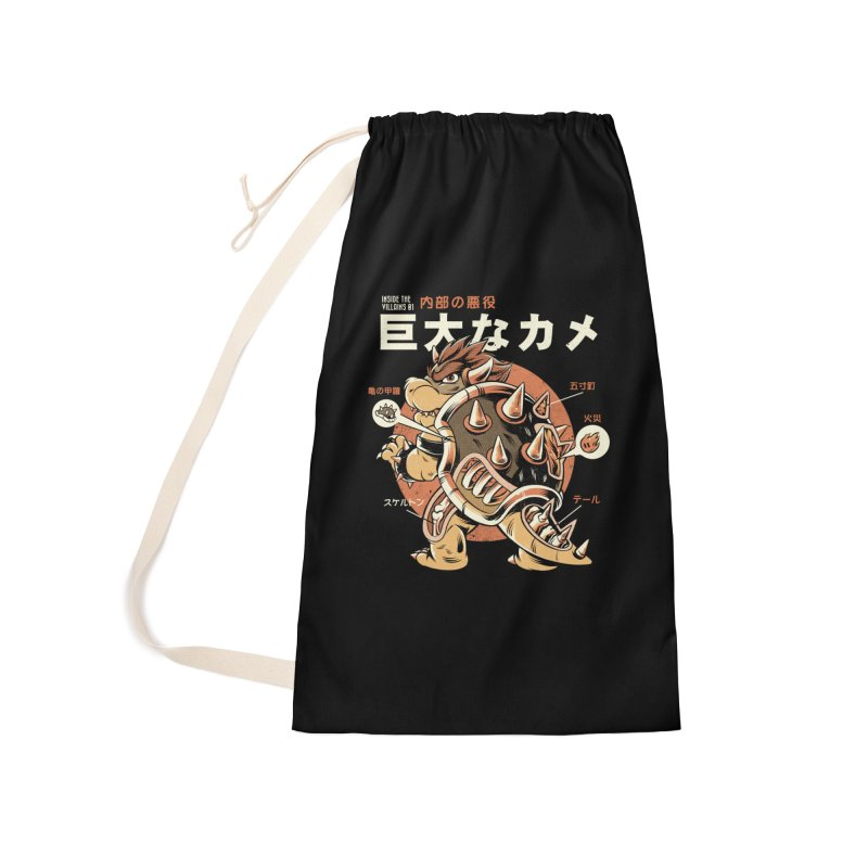 Black Bowserzilla Accessories Bag by ilustrata