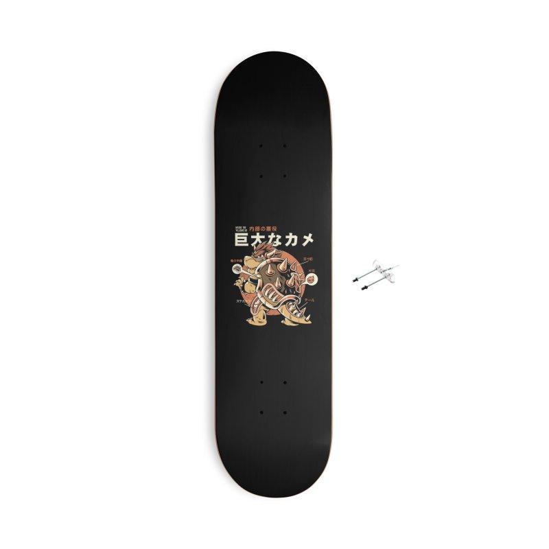 Black Bowserzilla Accessories With Hanging Hardware Skateboard by ilustrata