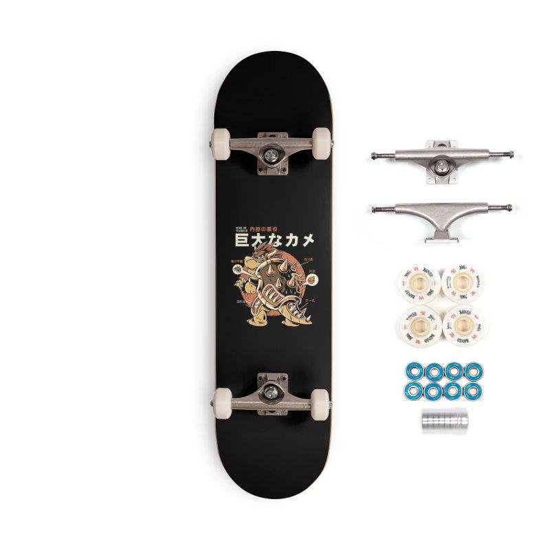 Black Bowserzilla Accessories Complete - Premium Skateboard by ilustrata