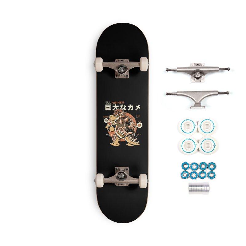 Black Bowserzilla Accessories Skateboard by ilustrata