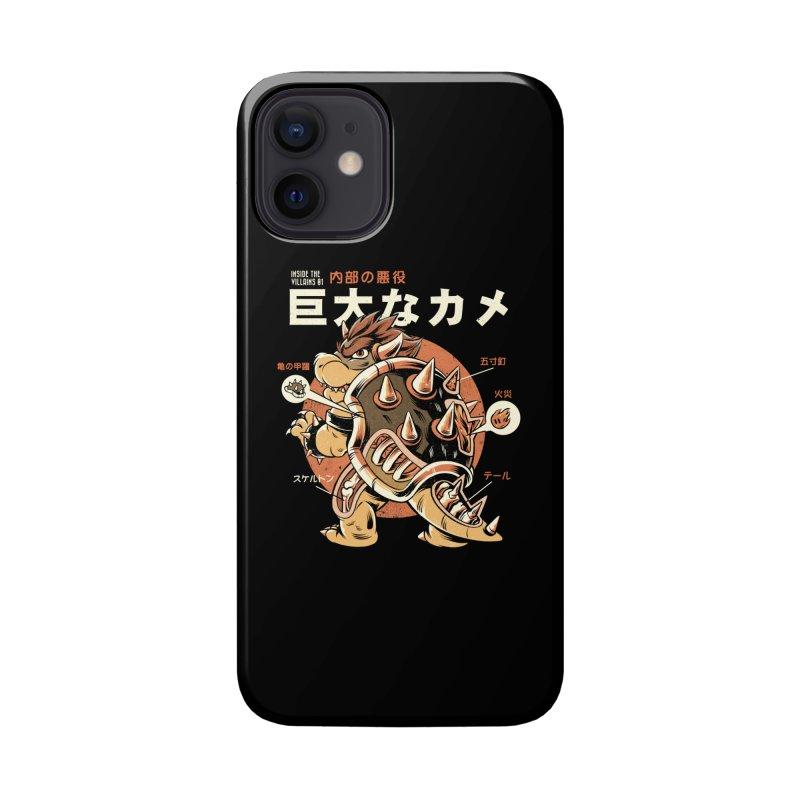 Black Bowserzilla Accessories Phone Case by ilustrata