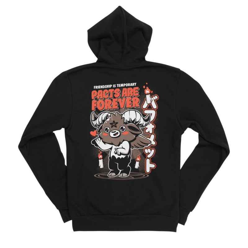 Pacts Are Forever - Black Women's Sponge Fleece Zip-Up Hoody by ilustrata