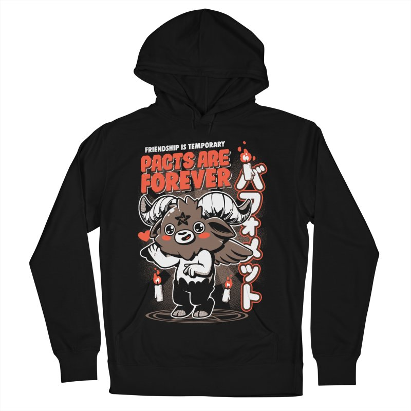 Pacts Are Forever - Black Men's French Terry Pullover Hoody by ilustrata