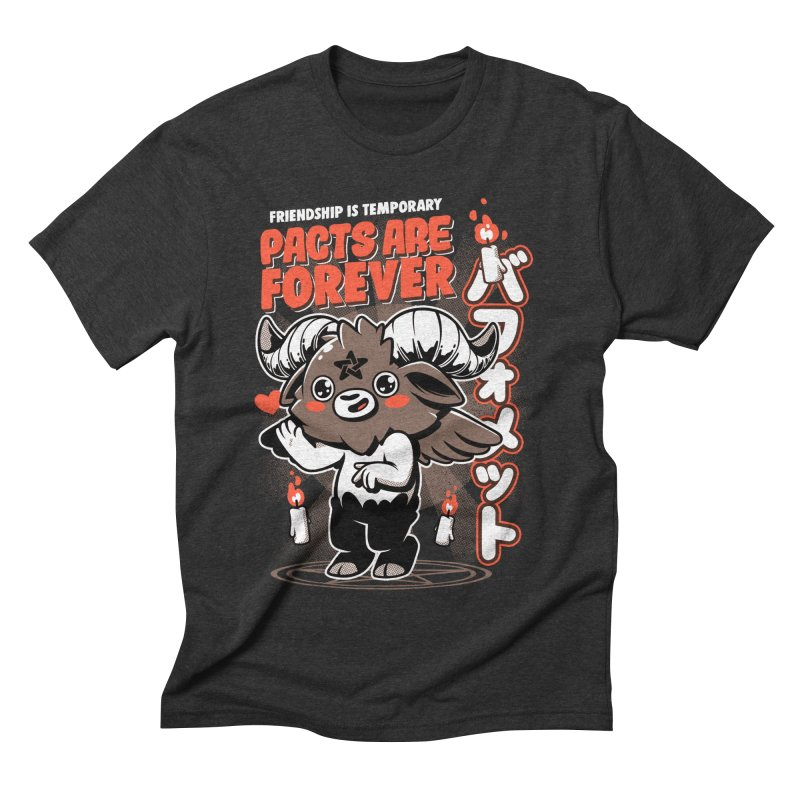 Pacts Are Forever - Black Men's Triblend T-Shirt by ilustrata