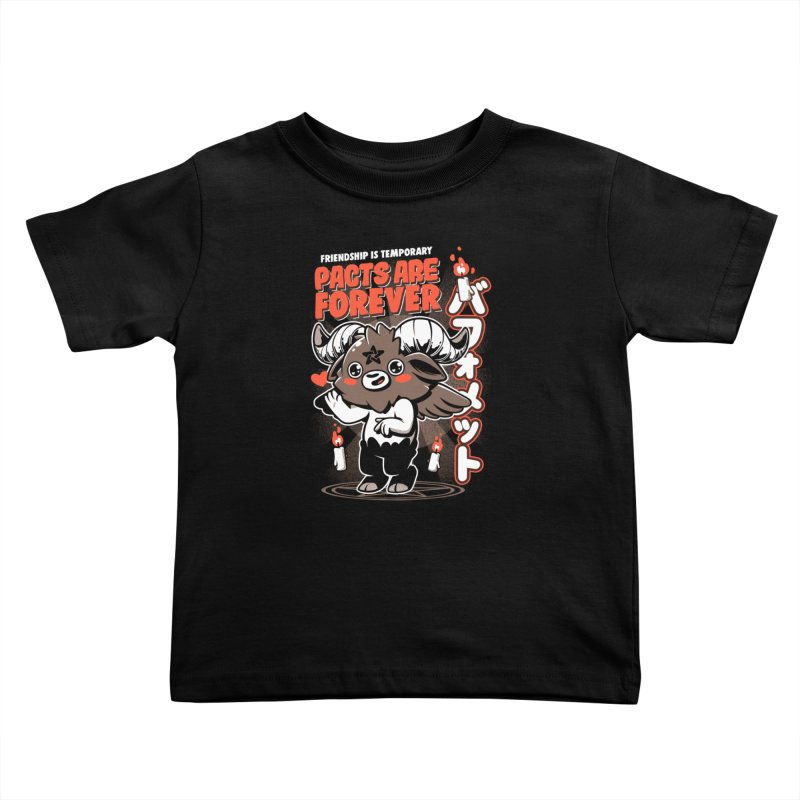 Pacts Are Forever - Black Kids Toddler T-Shirt by ilustrata