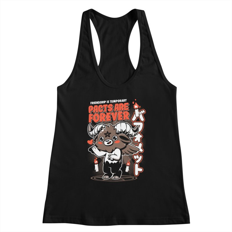Pacts Are Forever - Black Women's Racerback Tank by ilustrata