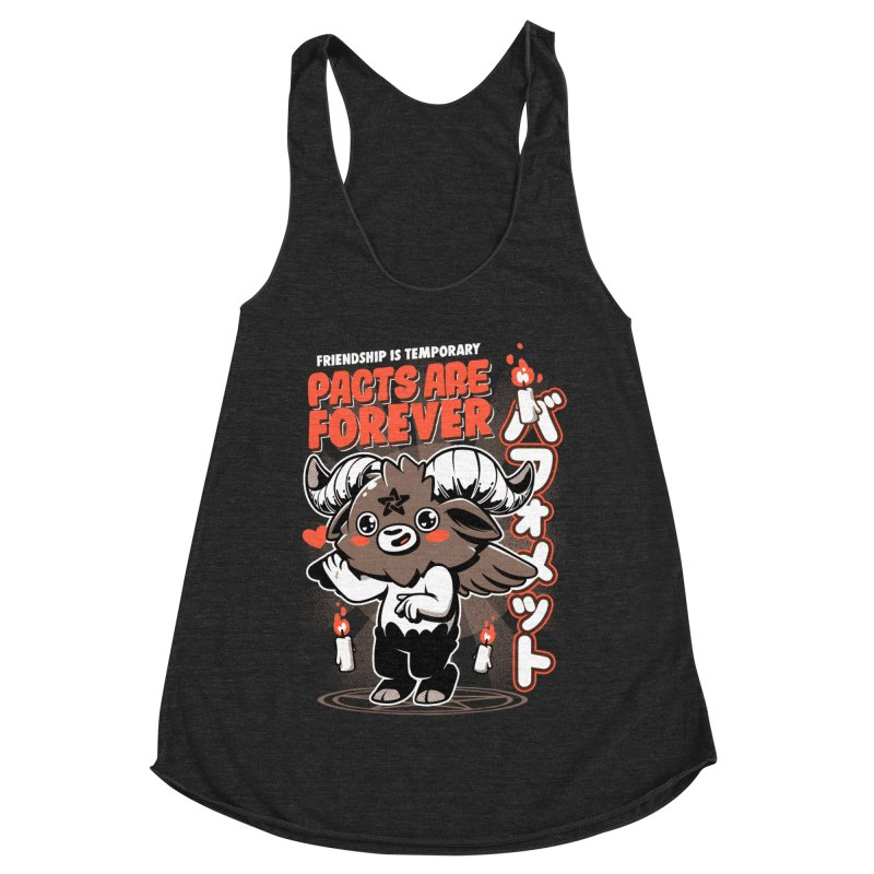 Pacts Are Forever - Black Women's Racerback Triblend Tank by ilustrata